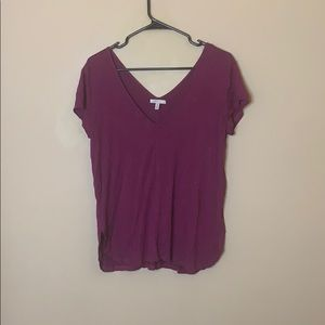 Anthropologie Bordeaux burgundy T-shirt